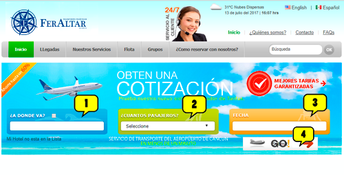Tutorial para Reservar en Cancun Airport Transportation